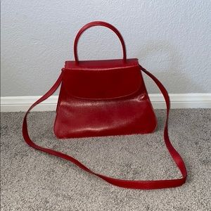 Vintage Giorgio Armani Red Leather Purse